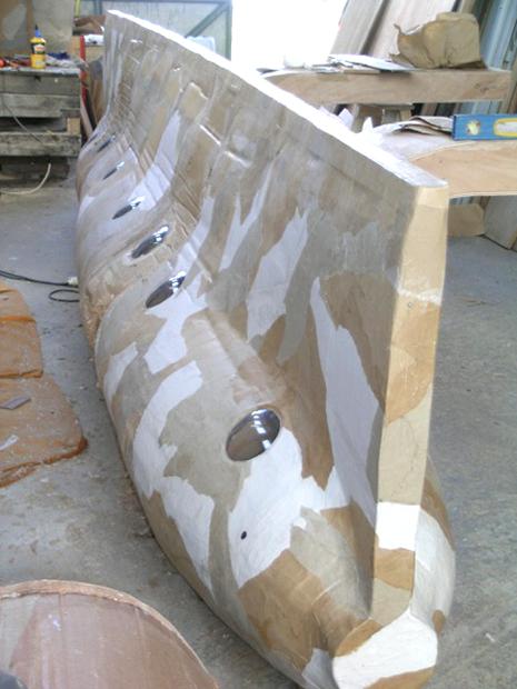 Favori Sculpture flottante en carton ondulé | Gérald Pestmal PZ91